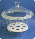 Desiccator with Lid Plain with Porcelain perforated plate, Neutral Glass.
